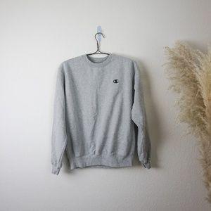 Champion grey Long Sleeve Crewneck sweatshirt